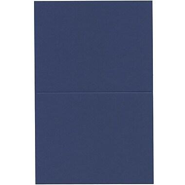 JAM PaperMD – Cartes vierges rabattables, bleu présidentiel, 4,37 x 5,43 po, 500/boîte