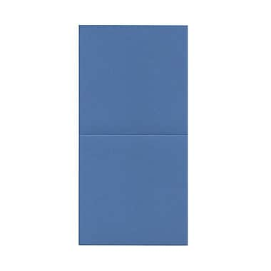 JAM Paper® Foldover Cards, 5.75 x 5.75 square, Curious Iridescents Neutron Blue, 50/Pack (6935175)