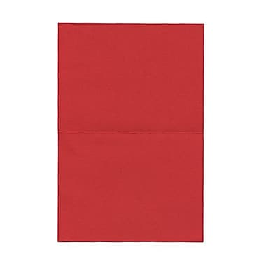JAM Paper® Blank Foldover Cards, A6 size, 4.63 x 6.25, Red Linen, 100/Pack (309930)