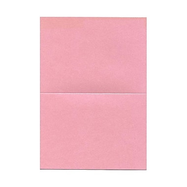 JAM Paper® Blank Foldover Cards, A6 size, 4 5/8 x 6 1/4, Stardream Metallic Rose Quartz Chiara Pink, 25/pack (50GCST994B)