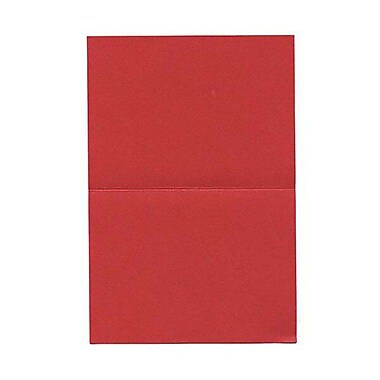 JAM Paper® Blank Foldover Cards, A6 size, 4 5/8 x 6 1/4, Crushed Leaf Red Poppy, 25/pack (HOCT910B)
