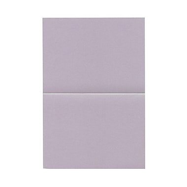 JAM Paper® Blank Foldover Cards, A6 size, 4 5/8 x 6 1/4, Curious Metallic Morphing Mauve Purple, 25/pack (069312229B)