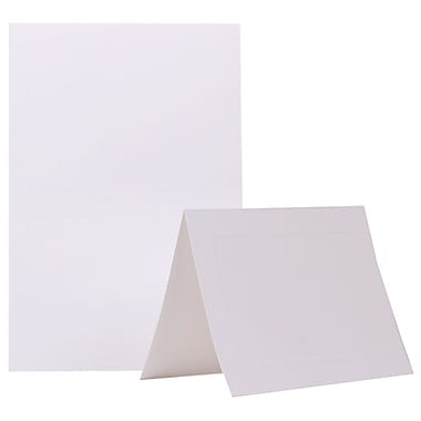 JAM Paper® Blank Foldover Cards, A7 size, 5 x 6.63, White Panel, 100/Pack (309945)