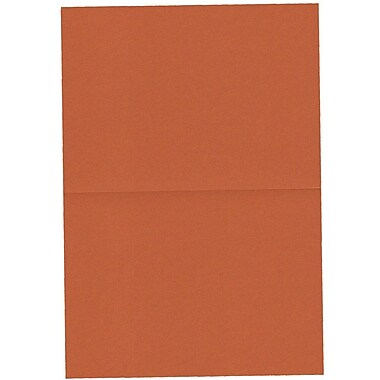 JAM Paper® Blank Foldover Cards, A7 size, 5 x 6 5/8, Dark Orange, 100/pack (530913118)