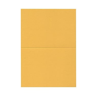 JAM Paper® Blank Foldover Cards, A7 size, 5 x 6 5/8, Gold Yellow, 100/pack (530913120)