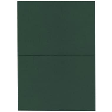 JAM Paper® Blank Foldover Cards, A7 size, 5 x 6.63, Dark Green, 100/Pack (530913124)