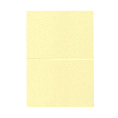 JAM Paper® Blank Foldover Cards, A7 size, 5 x 6 5/8, Light Yellow, 100/pack (530913125)