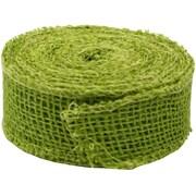 JAM Paper® Lime Green Burlap Ribbon 1.5 x 360, Sold Individually