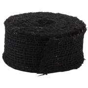 JAM Paper® Envelope Black Burlap Ribbon 1.5 x 360, Sold Individually