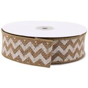 JAM Paper® Natural Chevron Burlap Ribbon 1.5 x 360, Sold Individually