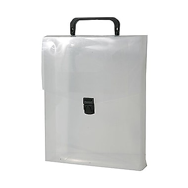 JAM Paper® Plastic Vertical Magazine Style Briefcase, 9.25 x 12 x 2.5, Clear, Sold Individually (7216001)