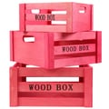 JAM Paper Pink Nested Wooden Crates