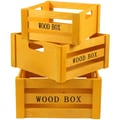 JAM Paper Wooden Yellow Nested Crates