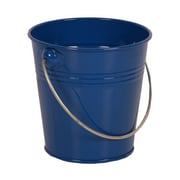 JAM Paper® Solid Blue Mini Metal Pail Buckets (3 1/8 x 4 1/4 x 4 1/4) - 36 pails per carton