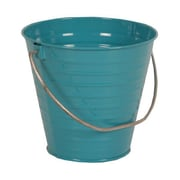 JAM Paper® Turquoise Small Colorful Metal Pail Buckets (3.75 x 6 x 5.25) - 36 pails per carton