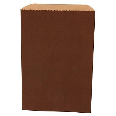 JAM Paper® Merchandise Bags, Small, 6.25 x 9.25, Chocolate Brown, 1000/carton (342126838)