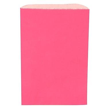 JAM Paper® Merchandise Bags, Small, 6.25 x 9.25, Fuchsia Pink, 1000/carton (342126826)