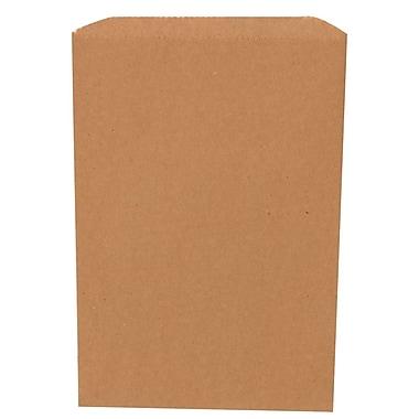 JAM Paper® Merchandise Bags, Small, 6.25 x 9.25, Brown Kraft Recycled, 1000/carton (342126846)