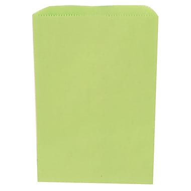 JAM Paper® Merchandise Bags, Small, 6.25 x 9.25, Lime Green, 1000/carton (342126805)