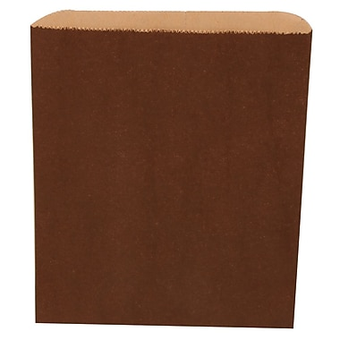 JAM Paper® Merchandise Bags, Medium, 8.5 x 11, Chocolate Brown, 1000/carton (342126840)
