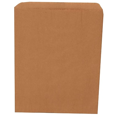 JAM Paper® Merchandise Bags, Medium, 8.5 x 11, Brown Kraft Recycled, 1000/carton (342126848)