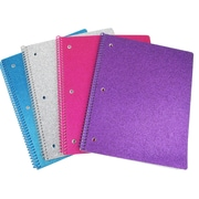 University of Style Glitter 1 Subject Notebook, 80 pages
