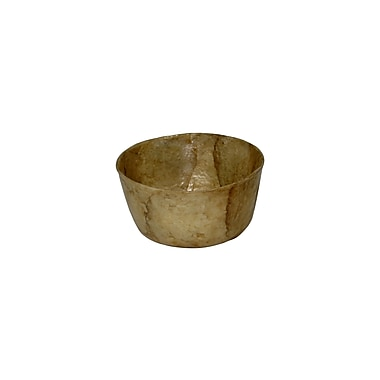 Dekorasyon Capiz Mini Salad Bowl (Set of 2); Smoke Gold