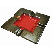 Hot Knobs 4 Cigar Tray; Red Irid with Gold Border