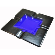 Hot Knobs 4 Cigar Tray; Blue Irid with Silver Border