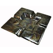 Hot Knobs 4 Cigar Tray; Fractures Black Irid
