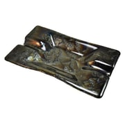 Hot Knobs 2 Cigar Tray; Fractures Black Irid