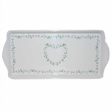 Corelle Livingware Country Cottage Melamine Tidbit Rectangle Serving Platter
