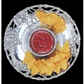 Arthur Court Grape Round Chip and Dip Tray