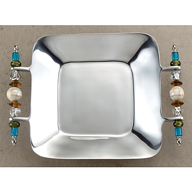 St. Croix Kindwer Southwest Beaded Square Serving Tray