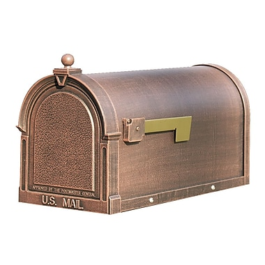 Special Lite Products Berkshire Post Mounted Mailbox; Copper
