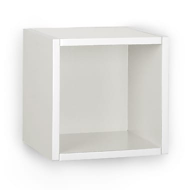 Way Basics Eco-Friendly Wall Cube Floating Shelf, White - Lifetime Warranty