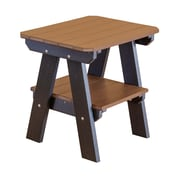 Little Cottage Company 2 Tier End Table; Tudor Brown