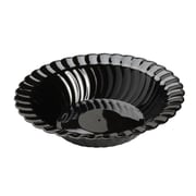 Fineline Settings, Inc Flairware Round Rippled Disposable Plastic 10 oz. Soup Bowl (180/Case); Black