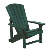 CR Plastic Products Generations Kids Adirondack Chair; Green