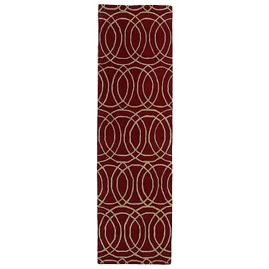 Kaleen Revolution Red Area Rug; 5' x 7'9''