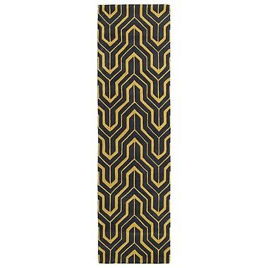Kaleen Revolution Yellow/Green Area Rug; 5' x 7'9''