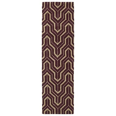 Kaleen Revolution Plum Area Rug; 2' x 3'