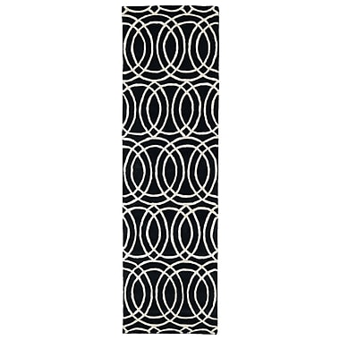 Kaleen Revolution Black Area Rug; 5' x 7'9''