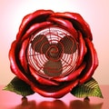 Exhart Cool Winds Rose Fan; Pink