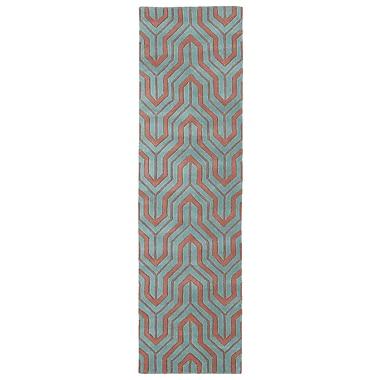 Kaleen Revolution Pink/Blue Rug; 3' x 5'