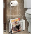 Better Living Products Free Standing Toilet Mate Tissue Dispenser and Organizer