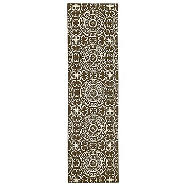 Kaleen Evolution Brown Area Rug; 5' x 7'9''