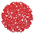 October Hill 15'' Poinsettia Placemat (Set of 4)