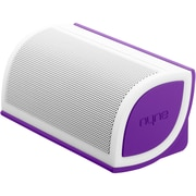 Nyne Mini Portable Bluetooth Speaker, White/Purple
