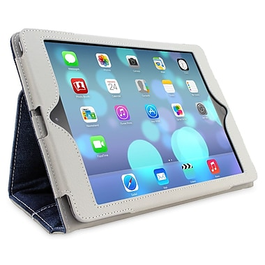Snugg B00I03X22C Polyurethane Leather Folio Case Cover and Flip Stand for Apple iPad Air/iPad 5, Denim